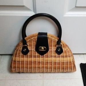 NWOT Wicker Handbag Woven Purse